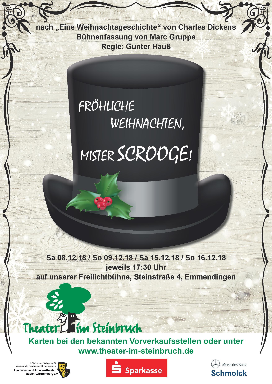 Fröhliche Weihnachten, Mister Scrooge! » Theater im Steinbruch